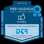 Web validada en cumplimiento normativo